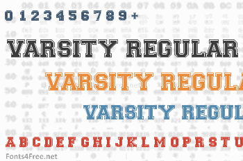 Varsity Regular Font Download Fonts4Free