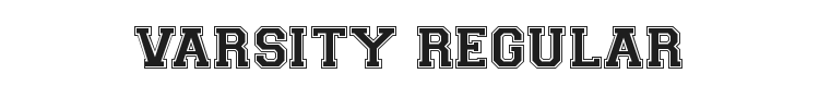 Varsity Regular Font Preview