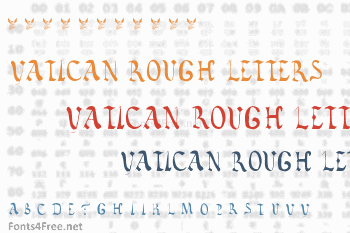 Vatican Rough Letters 8th Century Font