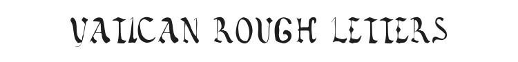 Vatican Rough Letters 8th Century Font