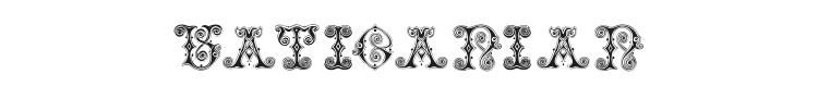 Vaticanian Initials Font Preview