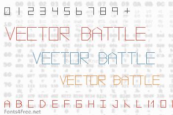 Vector Battle Font