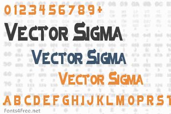 Vector Sigma Font