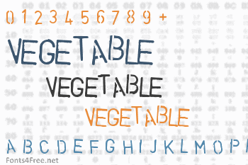 Vegetable Font