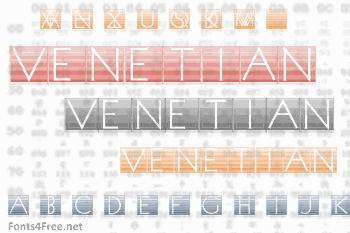 Venetian Blind Font