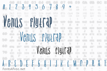 Venus flytrap and the bug Font