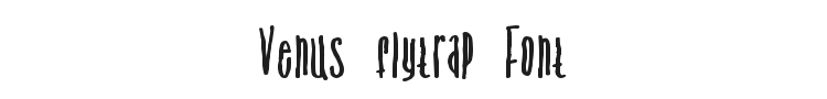Venus flytrap and the bug Font Preview