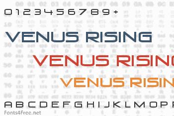 Venus Rising Font