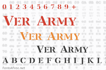 Ver Army Font
