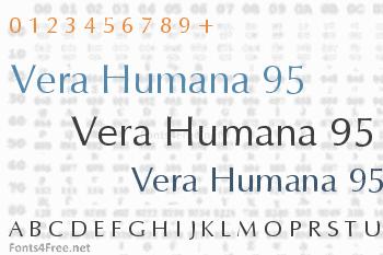 Vera Humana 95 Font