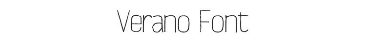 Verano Font Preview