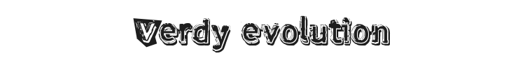 Verdy evolution Font