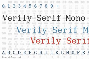 Verily Serif Mono Font