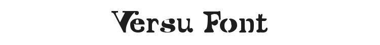 Versu Font Preview