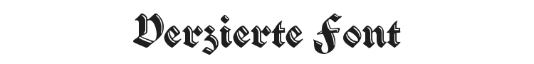 Verzierte Schwabacher Font Preview