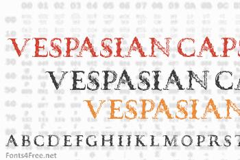Vespasian Caps Font