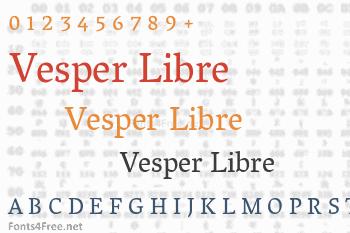Vesper Libre Font