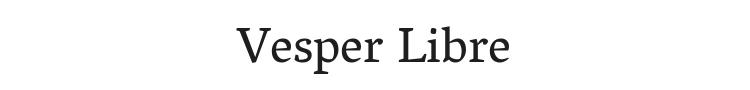 Vesper Libre Font Preview