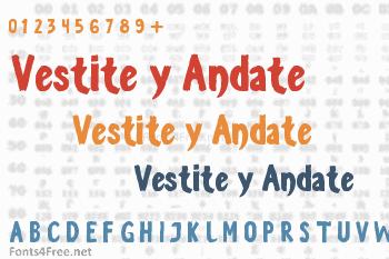 Vestite y Andate Font