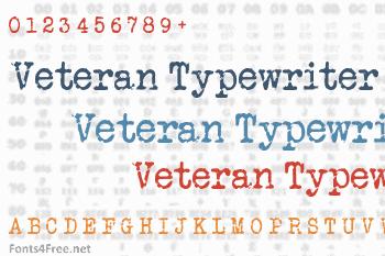 Veteran Typewriter Font