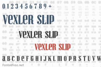 Vexler Slip Font