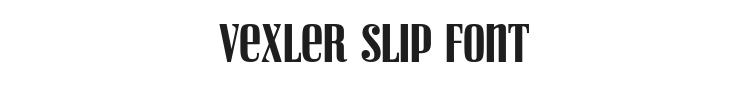Vexler Slip Font Preview
