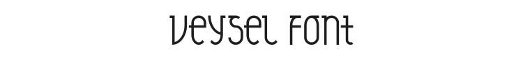 Veysel Font Preview