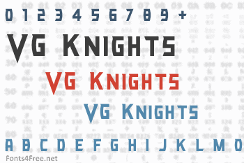 VG Knights Font