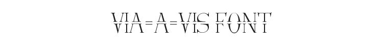 Via-A-Vis Font Preview