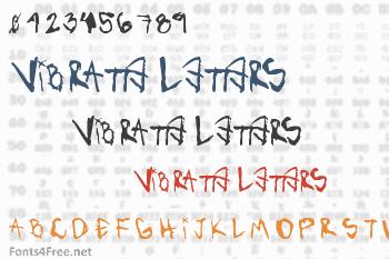 Vibratte Letters  Font