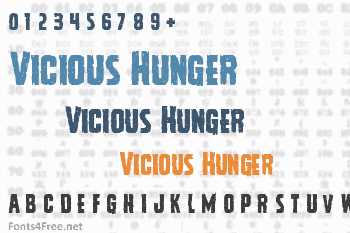 Vicious Hunger Font