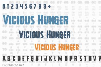 Vicious Hunger Font