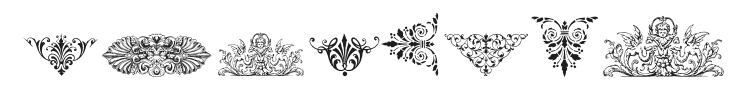 Victorian Free Ornaments Font Preview