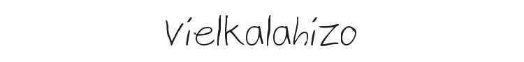 Vielkalahizo Font Preview