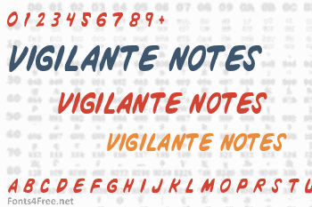 Vigilante Notes Font