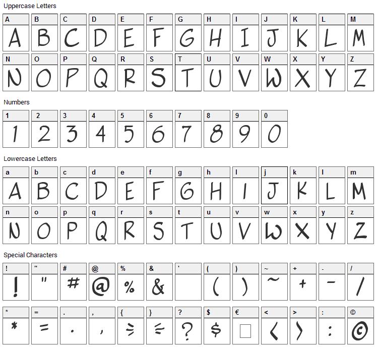 Vigilante Sidekick Font Character Map