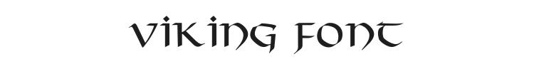 Viking Font Preview