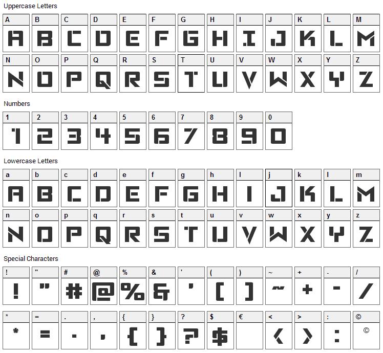 Viking Squad Font Character Map