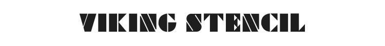 Viking Stencil Font Preview