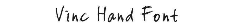 Vinc Hand Font
