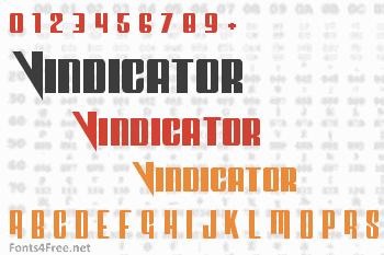 Vindicator Font
