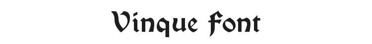 Vinque Font Preview