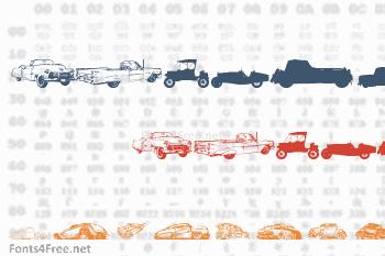 Vintage Auto Cars Font