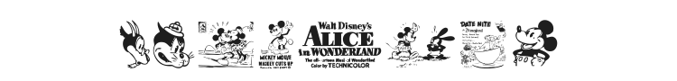 Vintage Classics Disney Font