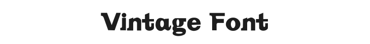 Vintage Font Preview