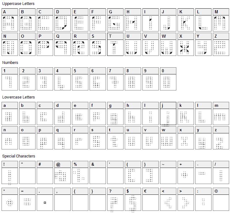 Vintsis Font Character Map
