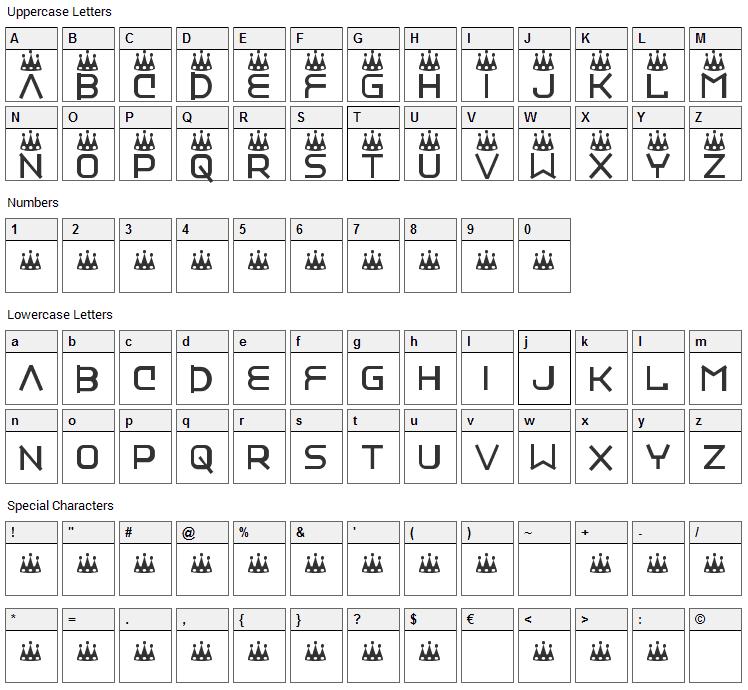 Vinyl Repair Kit Font Character Map
