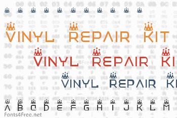 Vinyl Repair Kit Font