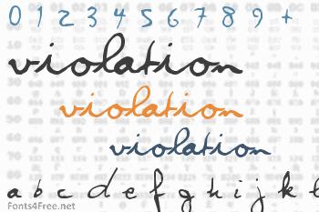 Violation Font