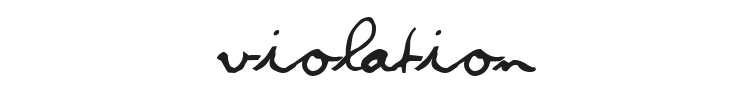Violation Font Preview